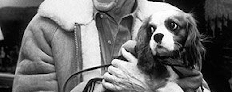Reagan y su perro Lucky
