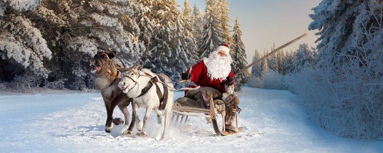 Rudolph, el de la nariz roja, guía a los demás gracias a la luz de la misma