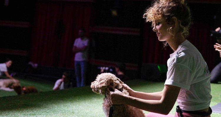 La actriz Esther Acebo practicando yoga con su perro | Purina