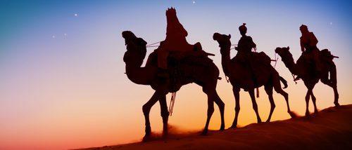 Las tres monturas de los Reyes Magos: El elefante, el caballo y el camello